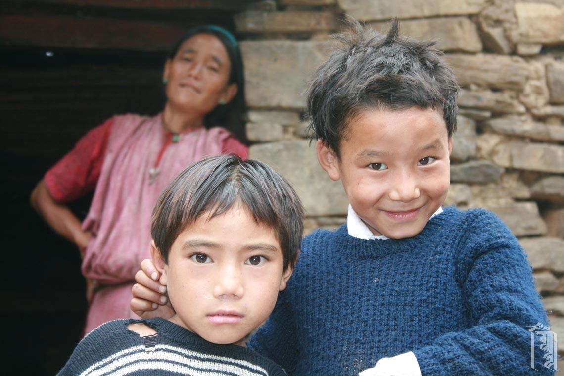 Freunde im Dorf