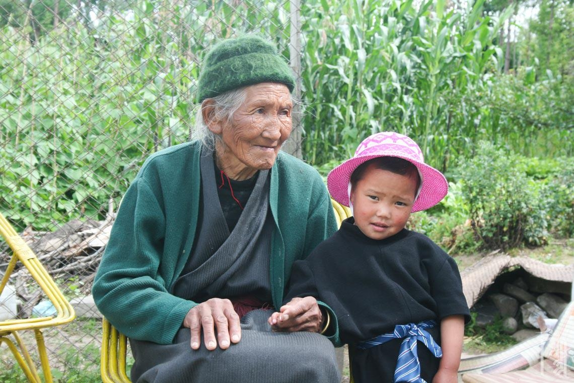 Mit Großmutter