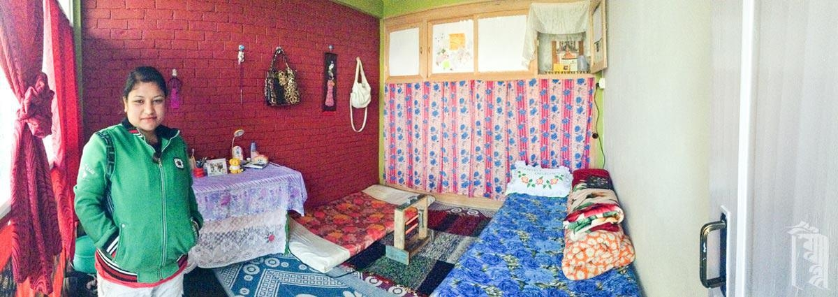 Es ist ziemlich aufregend, endlich einen eigenen Platz im Jhamtse Gatsal zu haben.