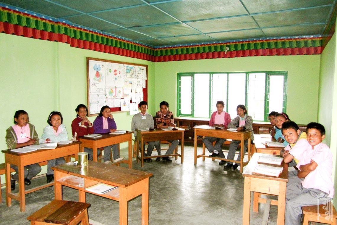 Ein Jhamtse Gatsal Klassenzimmer